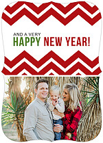 Chevron Christmas Ornate Christmas Flat Cards - Back