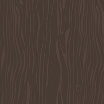 Chocolate Woodgrain Square Wedding Invites Flat Cards - Back