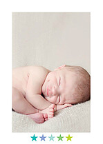 Colorblock Boy Birth Announcements Flat Cards - Back