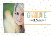 Confetti Neutral Graduation Flat Cards - Front