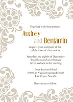 Dreamy Border Wedding Invites Flat Cards - Front