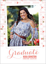 Float On Coral Graduation Flat Cards - Front
