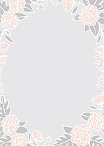 Floral Wreath Thanks Pink Thank You Cards - Back