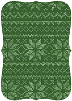 Holiday Sweater Green Ornate - Back