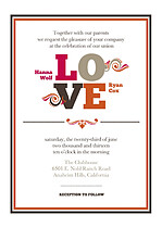 Lovely Union Wedding Invites Flat Cards - Front