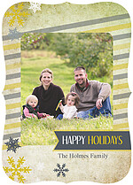 Military Marble Holiday Ornate Holiday Flat Cards - Front