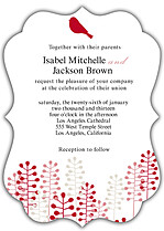 Modern Ornate Wedding Invites Flat Cards - Front