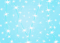 Twinkle Lights Aqua Christmas Flat Cards - Back