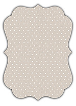 Swiss Dot Date Neutral Ornate - Back