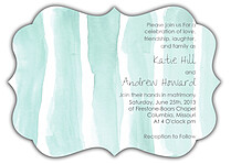 Watercolor Invitation Aqua Ornate - Front