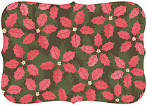Poinsettias Multi Ornate - Back