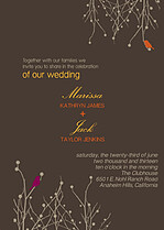 Poised Perfection Wedding Invites Flat Cards - Front