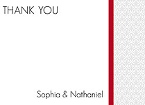 Scalloped Pattern Thank You Flat Cards - Front