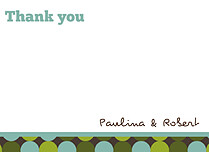Sea of Dots Thank You Flat Cards - Front