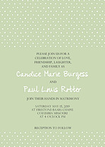 Swiss Dot Invitation Green Wedding Invites Flat Cards - Front