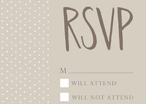 Swiss Dot RSVP Neutral - Front