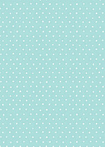 Swiss Dot Date Aqua Save the Date Flat Cards - Back