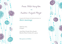 Tangled Jellies Wedding Invites Flat Cards - Front