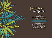 Tropic Company Reception Flat Cards - Front