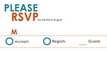 We Do RSVP Flat Cards - Front