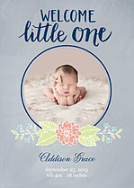 Welcome Little One Gray - Front