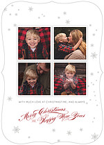 White Christmas Ornate Christmas Flat Cards - Front