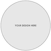 Custom 5x5 Circle DIY Flat Cards - Front