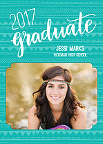Blissful Celebration Graduation Flat Cards - Front