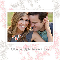 Forever In Love Invitation Square Wedding Invites Flat Cards - Back