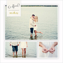 It's Official Invitation Square Wedding Invites Flat Cards - Back