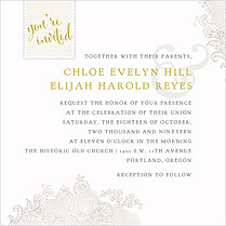 It's Official Invitation Square Wedding Invites Flat Cards - Front