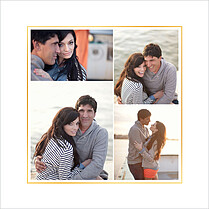 Love Sweet Love Date Square Save the Date Flat Cards - Back