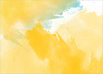 Spring Watercolor Reception Reception Flat Cards - Back
