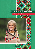 Aztec Awe Holiday Flat Cards - Back