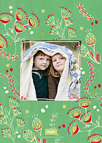 Be Merry Christmas Flat Cards - Back