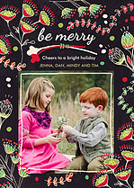 Be Merry Christmas Flat Cards - Front