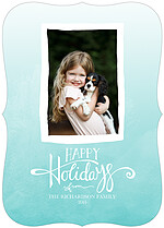 Beautiful Breeze Ornate Holiday Flat Cards - Front