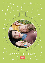 Bubbly And Bright Pop Circle Holiday Modern Pop Cards - Back