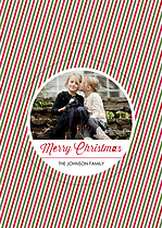 Christmas Carol Pop Circle Christmas Modern Pop Cards - Front