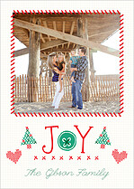 Cross Stitch Cheer Holiday Flat Cards - Front