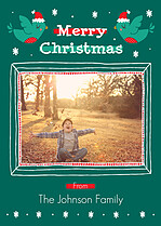 Festive Flight Christmas Flat Cards - Front