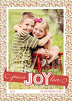 Festive Joy Holiday Flat Cards - Front