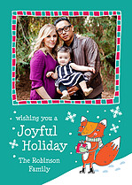 Foxy Flakes Holiday Flat Cards - Front