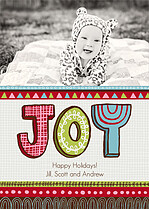 Funky Festival Holiday Flat Cards - Front