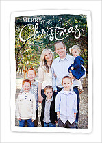 Graceful Shine Christmas Flat Cards - Front