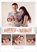 Happiest Of Holidays Holiday Flat Cards - Front