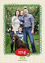 Happy Hangin Christmas Flat Cards - Back