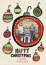 Happy Hangin Christmas Flat Cards - Front