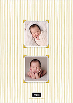 Holiday Miracle Birth Announcements Flat Cards - Back