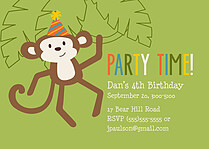 Jungle Jamboree Birthday Party Invitations Flat Cards - Front